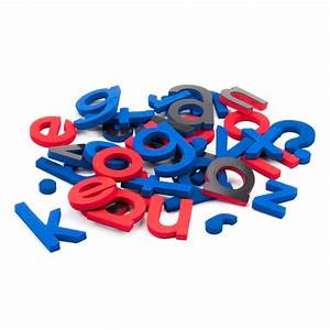 108 lowercase magnetic foam letters punctuation red With lowercase magnetic letters