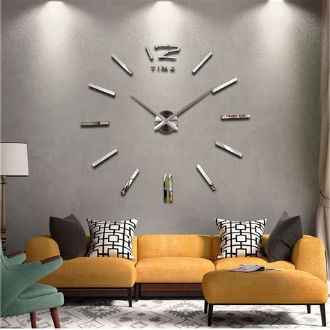 home decor large wall clock modern design living