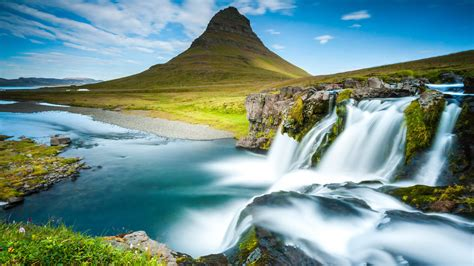 reykjavik iceland waterfall  hd wallpapers