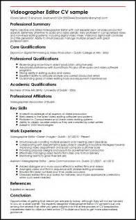 best resume for videographer videographer editor cv sle myperfectcv