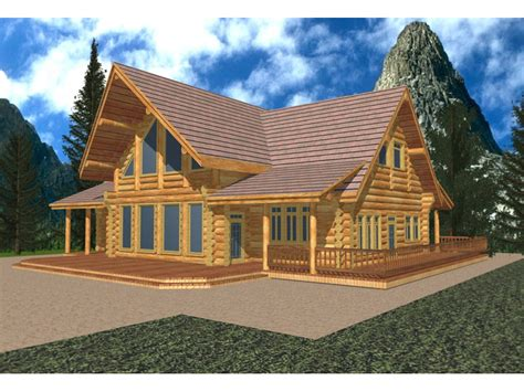 A Frame Log Cabin Floor Plans by Lodgewood Rustic A Frame Home Plan 088d 0036 House Plans