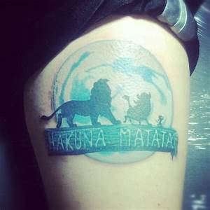 My Hakuna Matata tattoo... finally! :) Lion King Tattoo ...