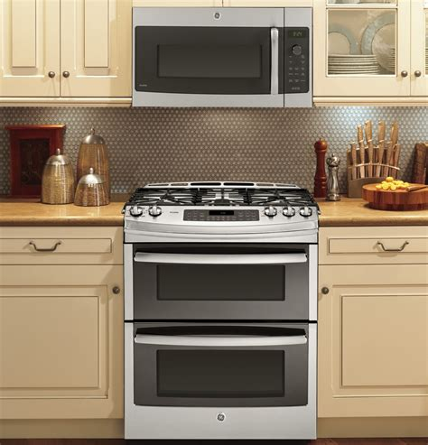 pgssefss ge profile series    front control double oven gas range stainless steel
