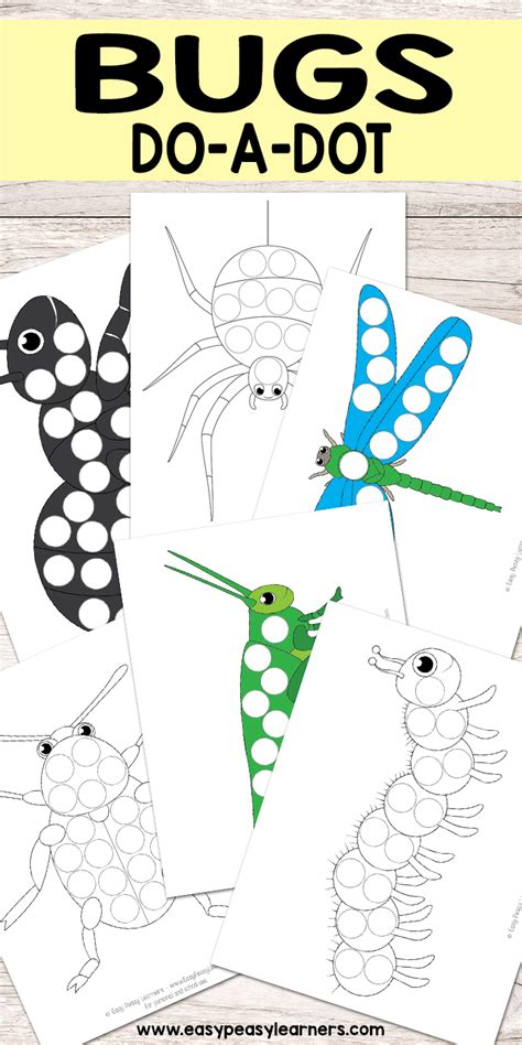 free bug do a dot printables bugs amp insect activities 970 | 1b8a13e1bab18fc9f1b4f145f1aeb899