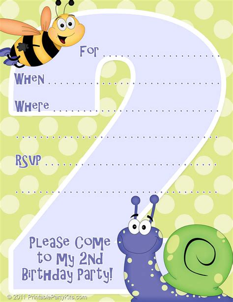Free Printable Party Invitations: Invitation Template for