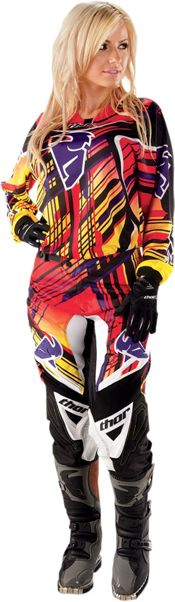 female motocross gear phase stix yellow pant products thormx