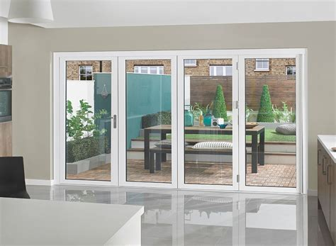 white bifold doors supreme aluminium bi fold doors 12ft white 187 vufold