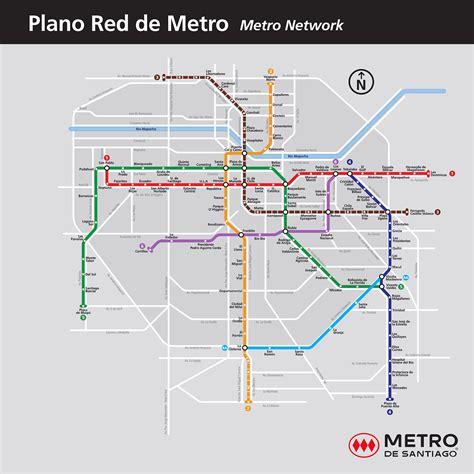 Submission  Official Map Metro De Santiago, Transit