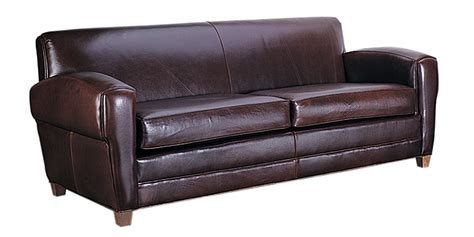 deco low profile italian leather sofa with two