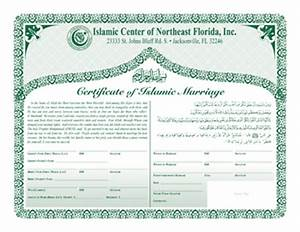 we married over the phone behind our parents back With islamic marriage certificate template