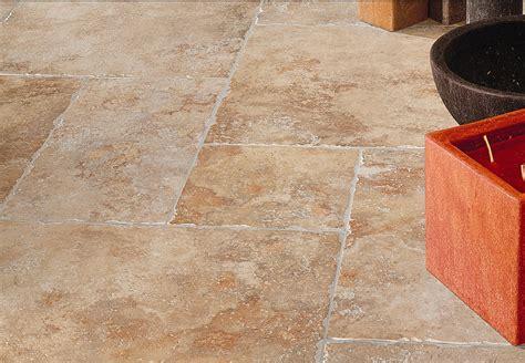Metallic Floor Tiles by Porcelain Stonelook Travertine Tile Encounters Ventura