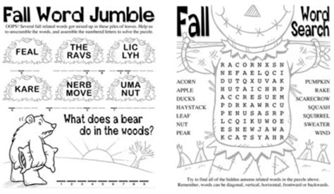 fall worksheets elementary worksheets for all