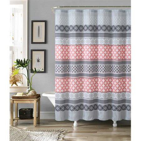 coral and grey curtains luxury home hawthorne faux silk shower curtain set grey
