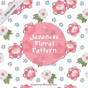 Japanese floral pattern, pink flowers Vector | Free Download