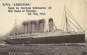 lusitania of 1907 cunard line ocean liner postcards