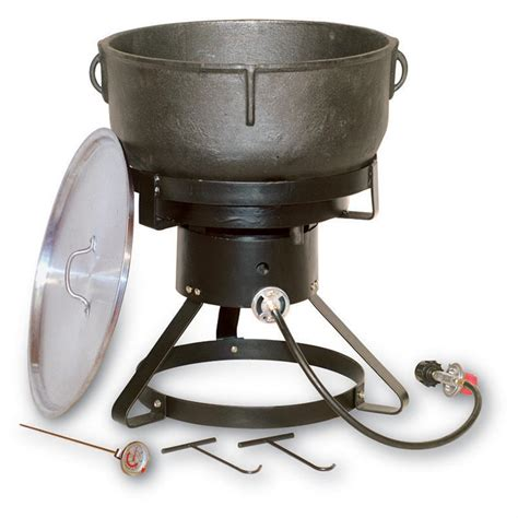 king kooker 17 1 2 quot outdoor propane cooker with 10 gallon