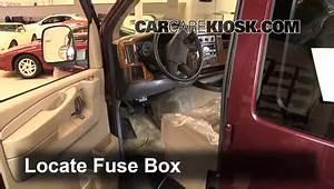 Interior Fuse Box Location  1996