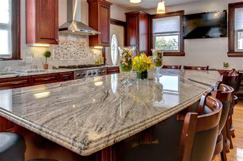 viscont white granite countertop installation project