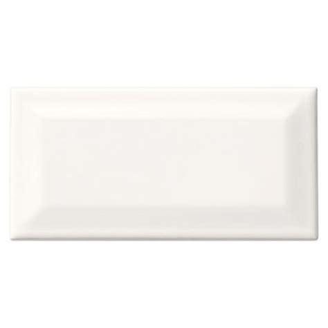 rittenhouse square beveled subway tile daltile rittenhouse square white 3 in x 6 in glazed