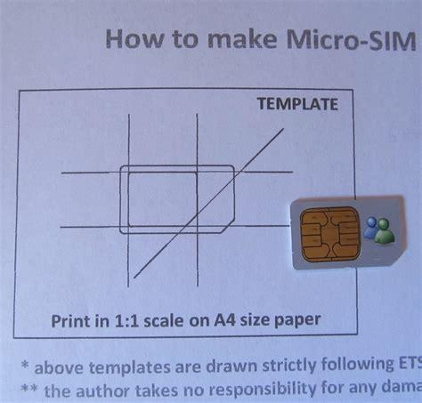 daily hacking cut  sim  microsim size