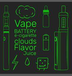 Electronic cigarette Royalty Free Vector Image