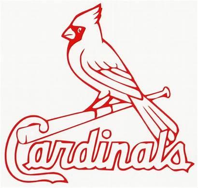 Louis Cardinals Silhouette Baseball Coloring Stl Vinyl