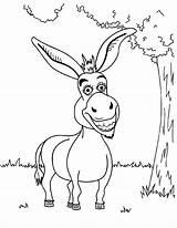 Donkey Coloring Shrek Pages Funny Printable Cartoon Drawing Mule Bestcoloringpagesforkids Para Dibujos Fun Balaam Articulo Smiling Template sketch template