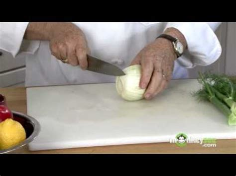 How To Cut Fennel  Youtube