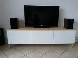 Meuble Tele En Bois : meuble tv avec besta ikea ~ Melissatoandfro.com Idées de Décoration