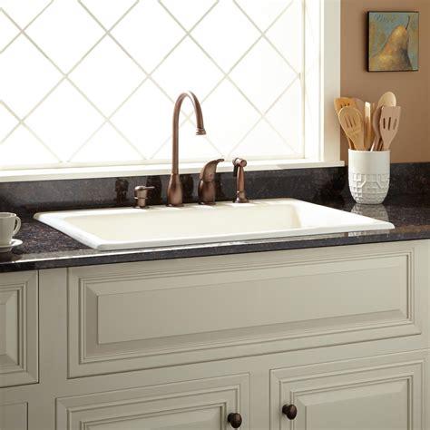 """42"""" Cast Iron Wallhung Kitchen Sink With Drainboard  Kitchen"""
