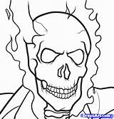 Ghost Rider Draw Coloring Pages Step Ghostrider Marvel Print Drawing Sketch Drawings Designlooter Printable Getcolorings Comics 22kb 839px Template Related sketch template