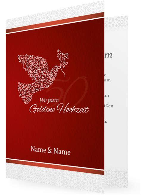 goldhochzeit einladungskarte vorlagen familieneinladungende