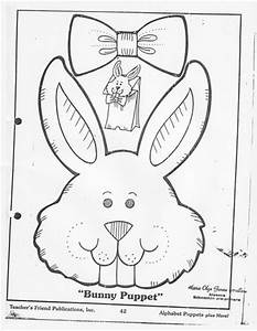 craftsactvities and worksheets for preschooltoddler and With paper bag bunny template