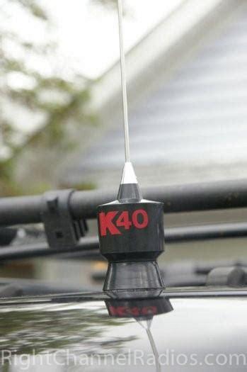 k40 trunk lip cb antenna right channel radios