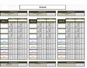 fitness training plan template With personal training program template