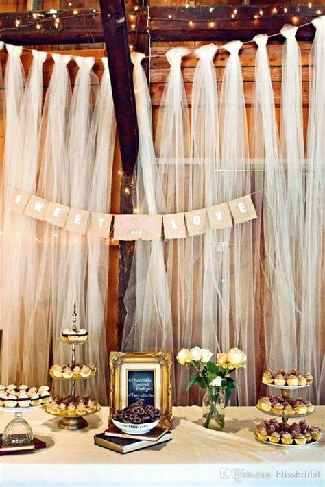 Diy Easy Backdrop by Easy Diy Tulle Buffet Backdrop Wedding Decoration Diy