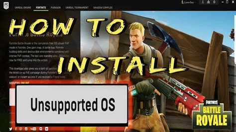 install fortnite  unsupported os youtube