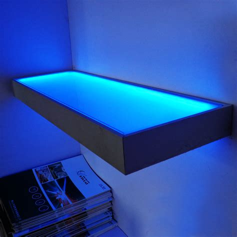 12v glass shelf wall mounted display led light cupbroad