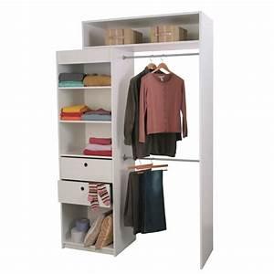 Caisson Dressing Profondeur 50 : graine kit dressing extensible blanc achat vente ~ Dailycaller-alerts.com Idées de Décoration