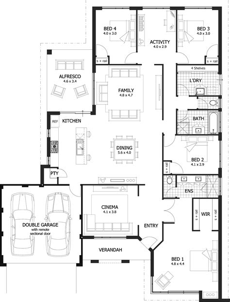 4 bedroom one house plans 100 one 4 bedroom house plans pretty ideas 11 1