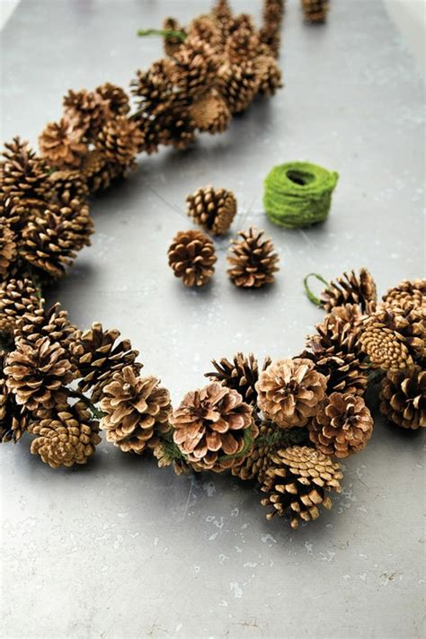 deko weihnachten zapfen basteln mit zapfen 55 tolle diy dekoideen zu weihnachten