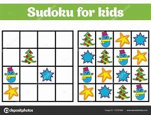 Spiele Für Weihnachten : sudoku spiel f r kinder mit bildern logik spiel f r kinder im vorschulalter rebus f r kinder ~ Frokenaadalensverden.com Haus und Dekorationen