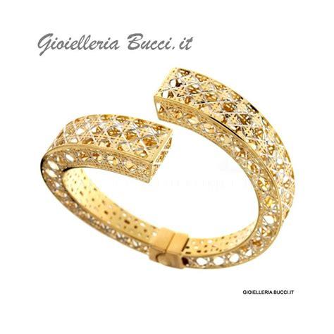 bracciale rigido da donna in oro giallo 18 kt con aperture a libro 803321726564