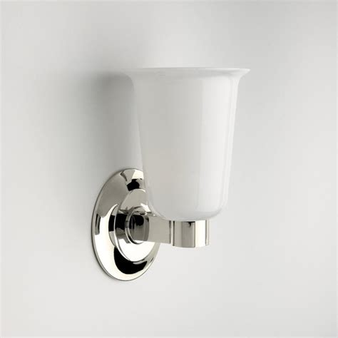butler wall mounted single arm sconce with white glass