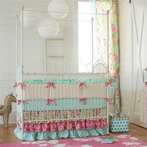 Kumari Garden Crib Bedding  Girl Nursery Bedding