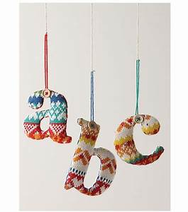 13 best images about knitted letters on pinterest With stocking letter ornaments