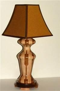 Segmented woodturned lamps