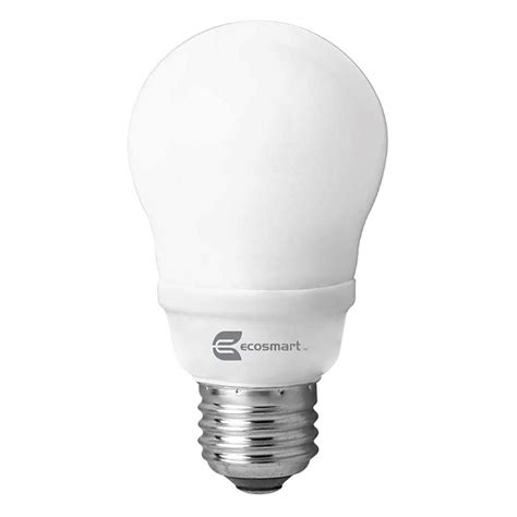 ecosmart light bulbs ecosmart 60w equivalent soft white a19 cfl light bulb 2