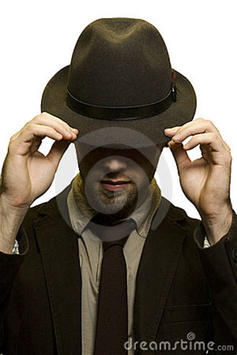 man covering eyes  hat stock images image