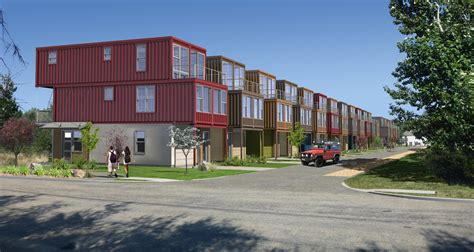 narrow house plan shipping container subdivision is planned for garden city